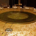 电动旋转餐桌面